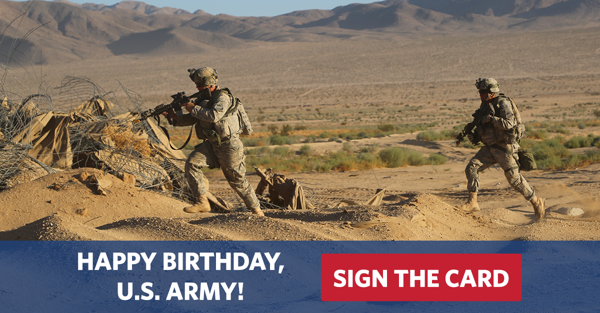 Sign The Card Wish The Us Army A Happy Birthday Uso
